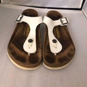 Birkenstock Shoes - Birkenstock gizeh white sandal EU37 US7